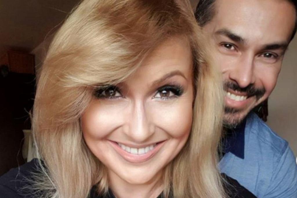 Katarzyna Skrzynecka z mężem