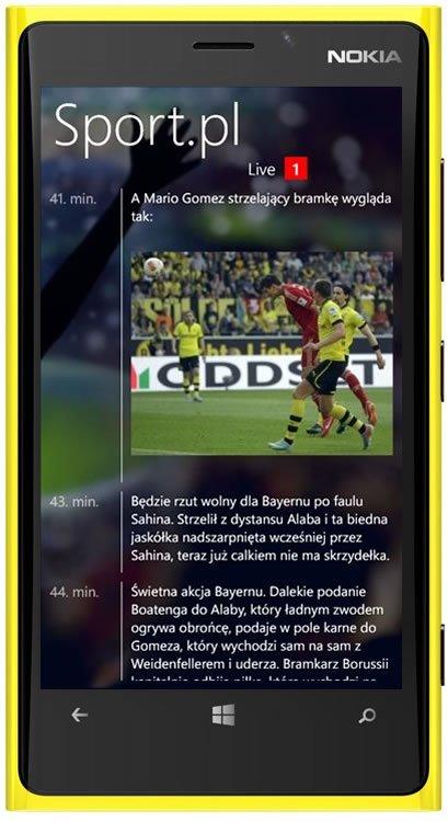 Sport.pl Live na Windows Phone