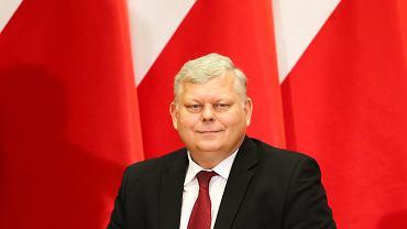 Poseł PiS marek Suski podczas spotkania z elektoratem. Kraków, Uniwersytet Rolniczy, 15 kwietnia 2018