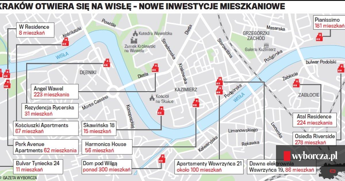 Krakowski Zwrot Ku Rzece Coraz Wiecej Mieszkan Powstaje Nad Wisla