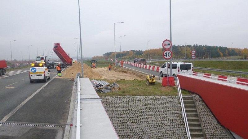 Zwężenie na węźle Łódź Północ na autostradzie A1 po zmianach