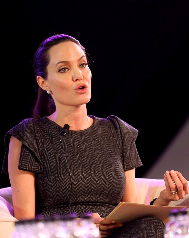 Actress Angelina Jolie addresses the African Union (AU) summit in Johannesburg, June 12, 2015.   REUTERS/Siphiwe Sibeko