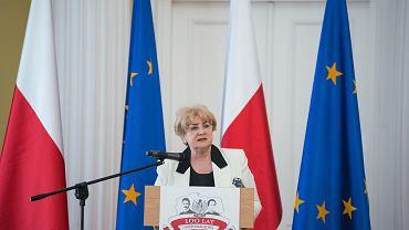 Danuta Waniek podczas spotkania inauguracyjnego Społecznego Komitetu Lewicy Obchodów 100-lecia Odzyskania Niepodleglości przez Polskę