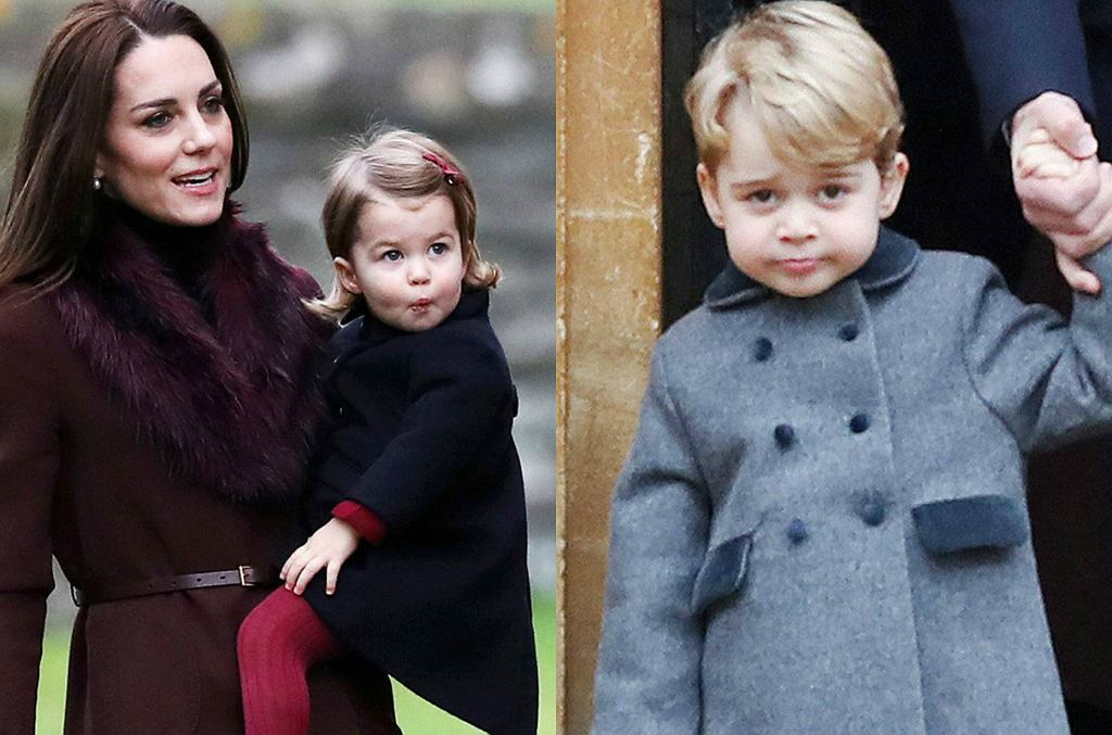 księżna Kate, księżniczka Charlotte, książę George