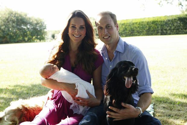 Księżna Kate, książę William, książę George i Lupo