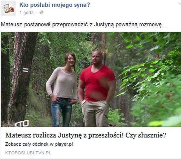 Kto poślubi mojego syna. Justyna i Mateusz
