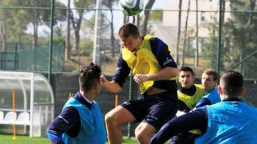 Trening piłkarzy Pogoni w Turcji