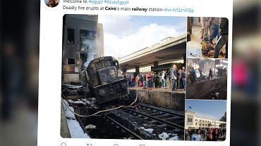 Egipt. Na dworcu kolejowym w Kairze wybuchł pożar. 20 osób nie żyje