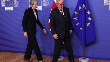 Premier Wielkiej Brytanii Theresa May i przewodniczący Komisji Europejskiej Jean-Claude Juncker