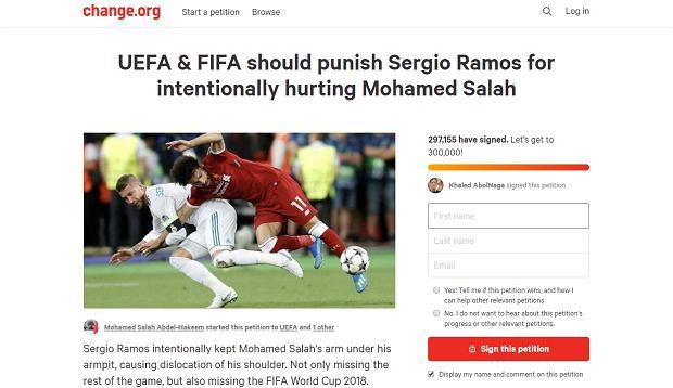 Petycja o ukaranie Sergio Ramosa