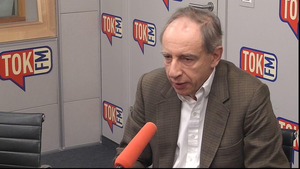Władysław Teofil Bartoszewski w studiu TOK FM.