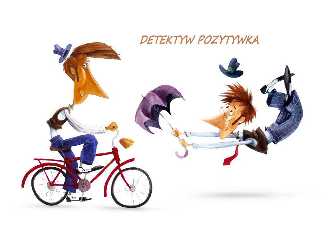 Detektyw Pozytywka trafi na mały ekran/Detektyw Pozytywka - wstępny projekt postaci, autor Piotr Rychel_(c)4CUTS