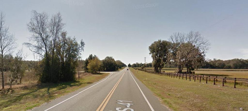Okolice, w których doszło do wypadku. Williston na Florydzie.