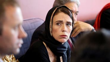Premier Nowej Zelandii Jacinda Ardern na spotkaniu z przedstawicielami środowiska muzułmańskiego