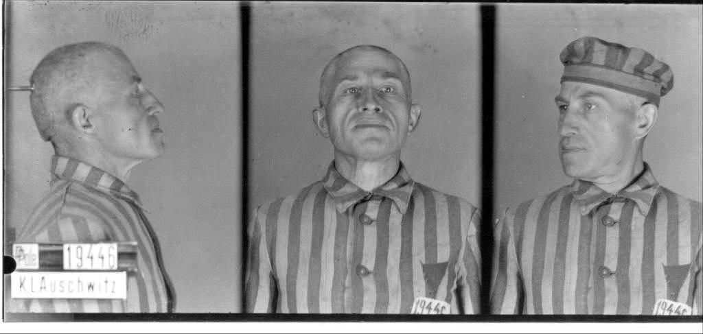 Jego ostatnie zdjęcie zrobione 30 lipca 1941 r. w obozie Auschwitz.