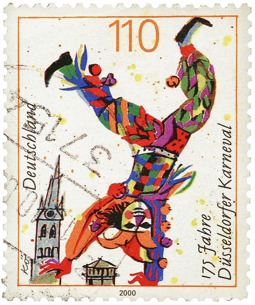 Dusseldorf: upamiętniający karnawał w Dusseldorfie znaczek.
