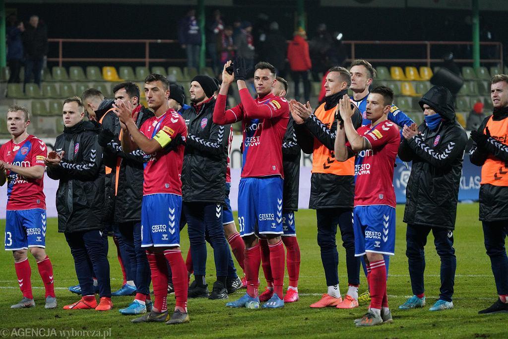 Raków Częstochowa w Bełchatowie podczas meczu z Legią Warszawa, 15 lutego 2020 r.