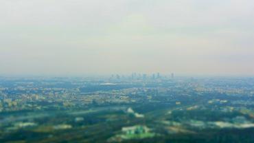 Widok na Warszawę z 300 metrów
