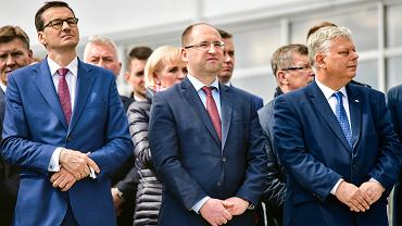 Premier Mateusz Morawiecki, Adam Bielan  i Marek Suski.