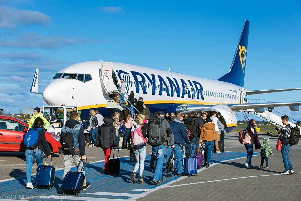 Lotnisko Poznań Ławica. Inauguracja połączeń z Poznania do Madrytu, linii Ryanair
