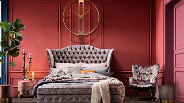 Nowoczesna sypialnia glamour