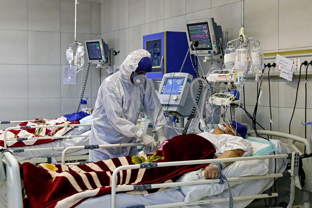Epidemia koronawirusa - szpital w Iranie