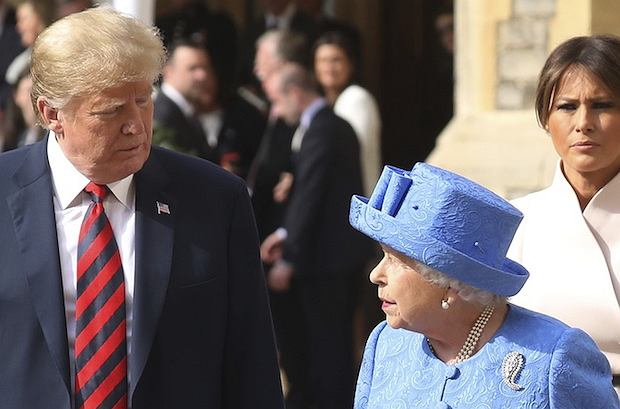 Donald Trump, królowa Elżbieta