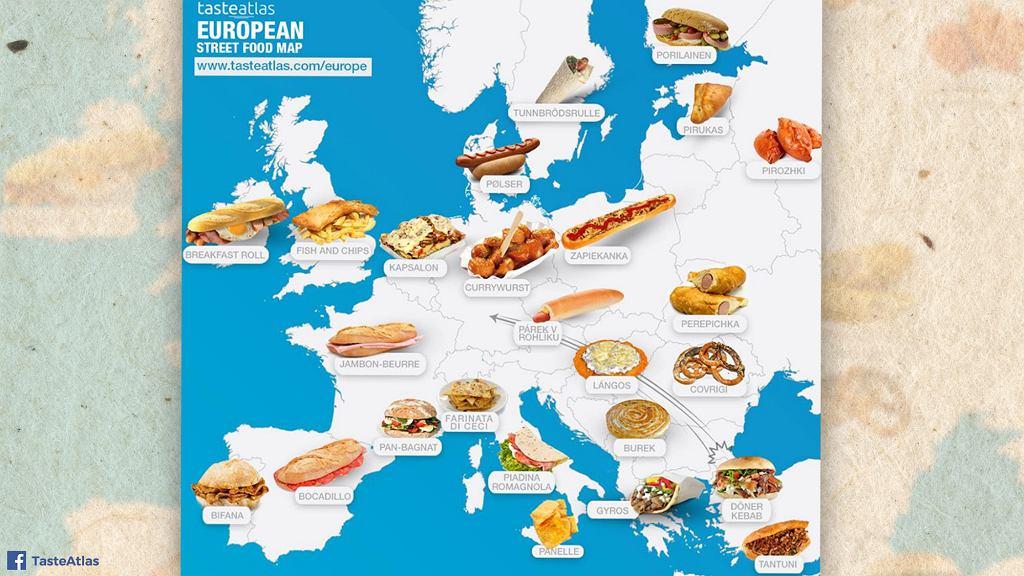 TasteAtlas - najpopularniejsze dania typu street food