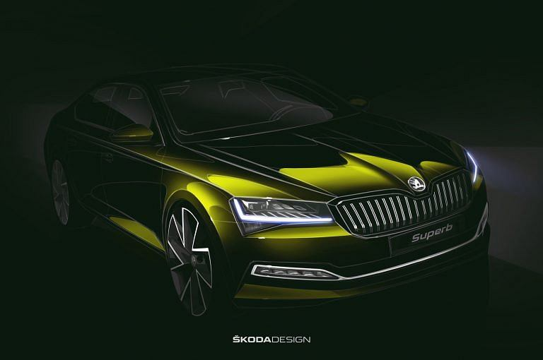 Skoda Superb teaser 2019