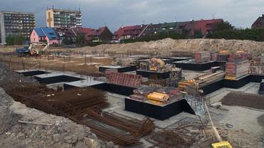Na budowie stadionu w Tychach - październik 2013