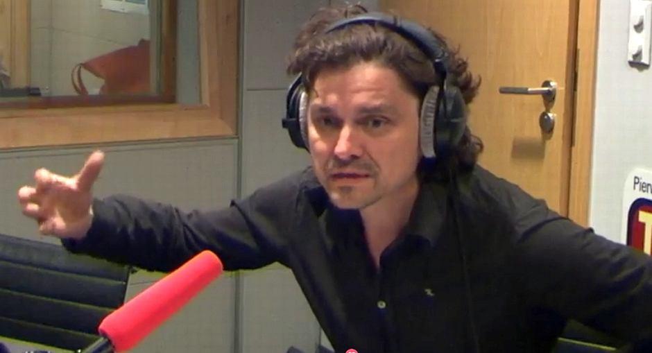 Grzegorz Jarzyna w studiu TOK FM
