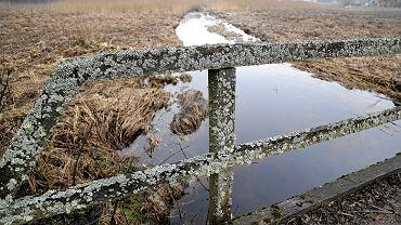 Drewniany mostek na rzece Łutownia w Teremiskach