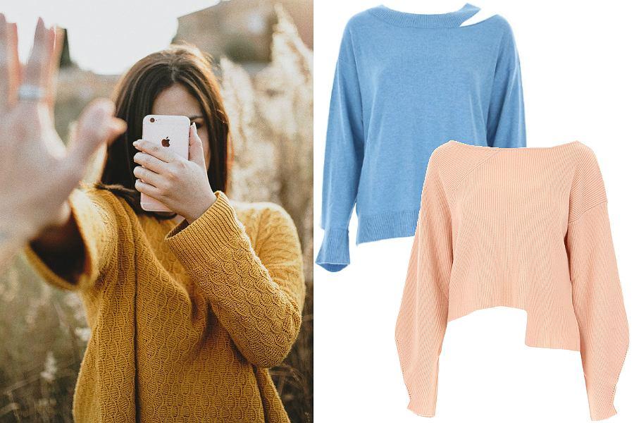 Swetry damskie kaszmirowe