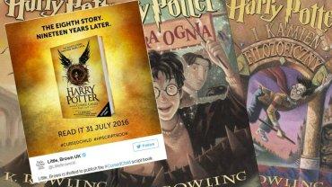 """""""Harry Potter and The Cursed Child"""" oraz okładki poprzednich tomów"""