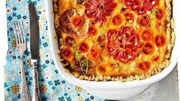 Tarta w pomidorowe kwiatki