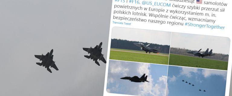 Kilkadziesiąt amerykańskich myśliwców w Polsce. Pentagon: To rutynowe ćwiczenia