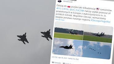 Myśliwce amerykańskie w Polsce. Pentagon: To rutynowe ćwiczenia