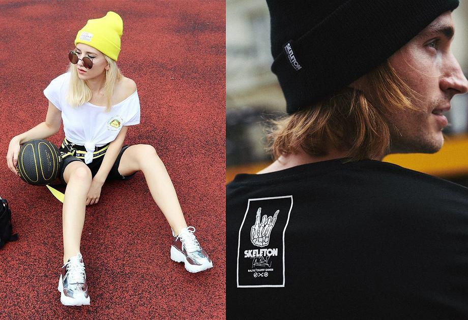 Sportowe czapki w stylu lat 90.