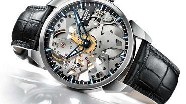 Zegarek z kolekcji Tissot, T-complication squelette, Cena: 5970 zł