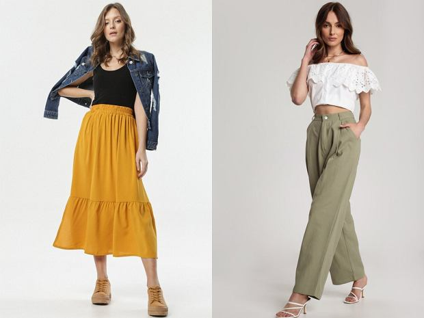 Spódnice i spodnie dla kobiet o dużym biuście