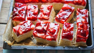 Ciasto z truskawkami i mascarpone