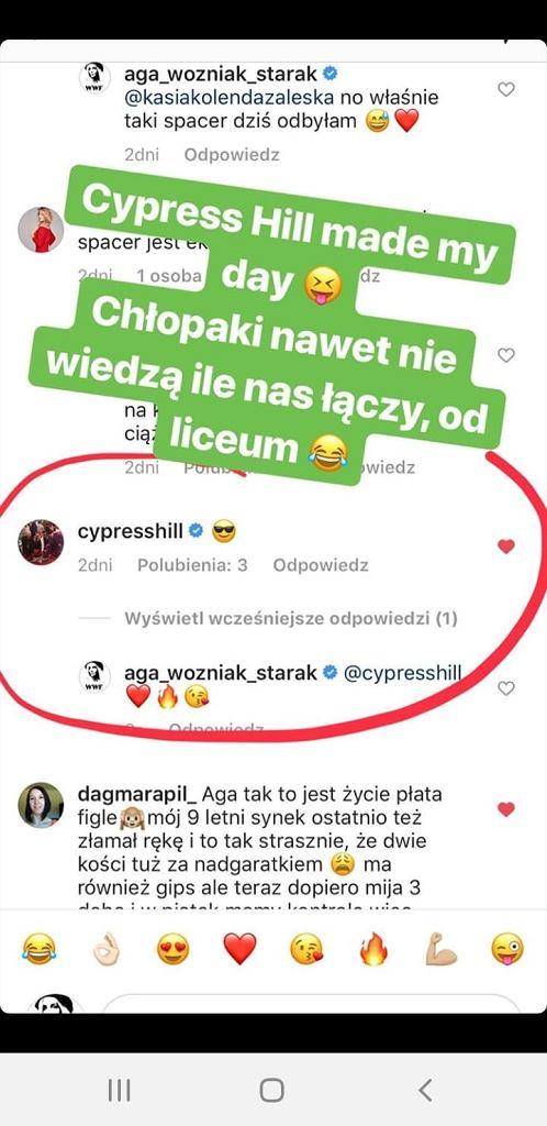 Agnieszka Woźniak-Starak zachwyca się komentarzem Cypress Hill