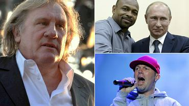 Gerard Depardieu, Roy Jones Jr i Władimir Putin, Fred Durst