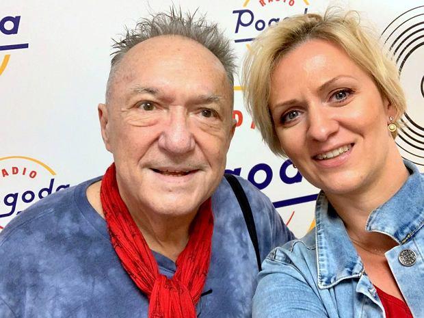 Michał Urbaniak i Anna Stachowska w studiu Radia Pogoda
