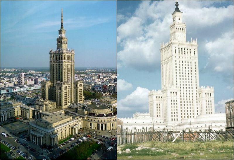 Czyszczenie Pałacu Kultury i Nauki. Biały PKiN w latach 50.