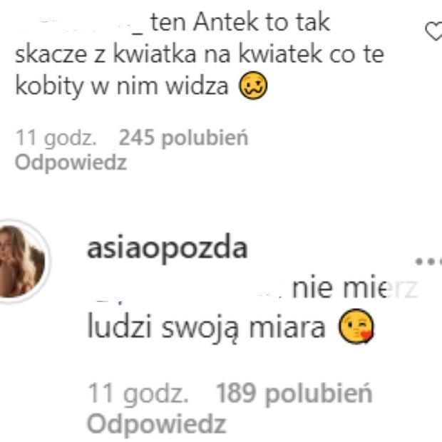 Joanna Opozda odpowiada internautce