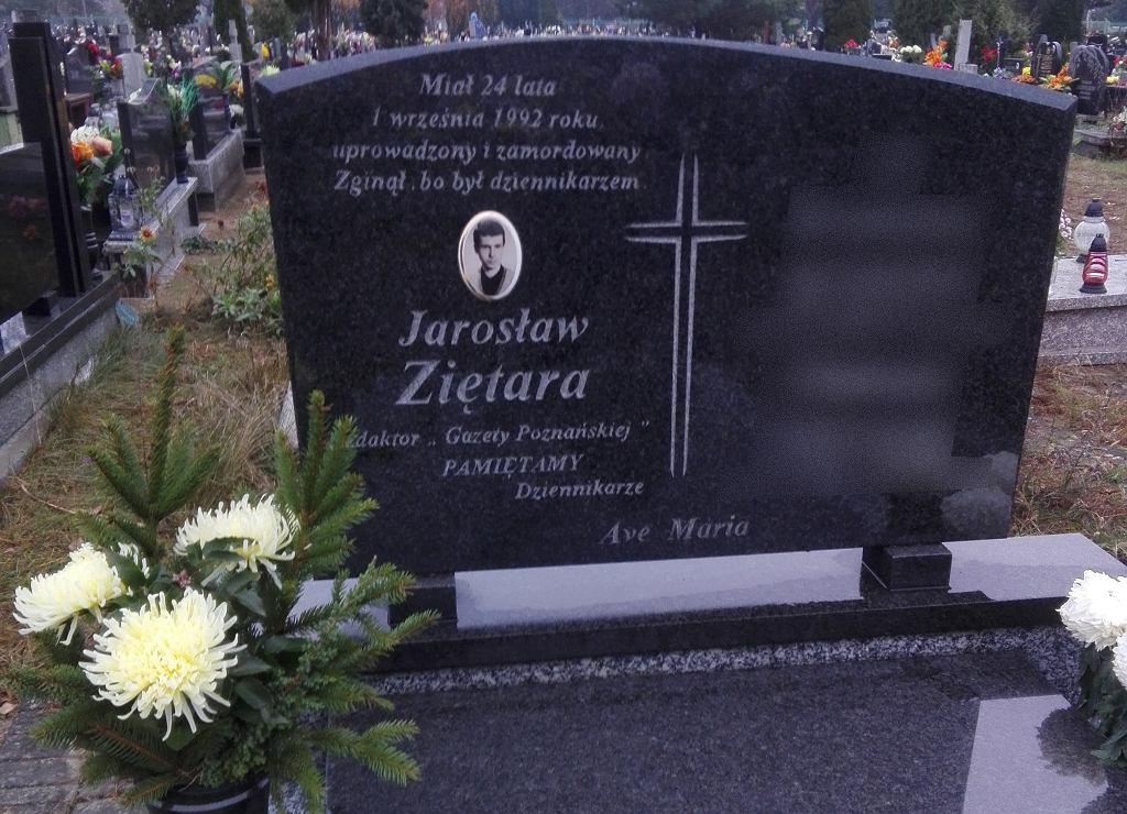 Jarosław Ziętara nagrobek