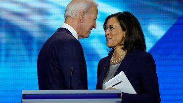 Joe Biden i Kamala Harris po debacie w prawyborach partii Demokratycznej