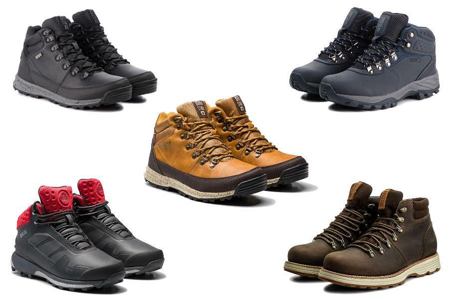 Kolaż / Buty trekkingowe marki BIG STAR / Materiały partnerów