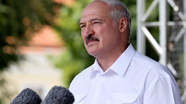 Alaksandr Łukaszenka podczas przemówienia w Grodnie